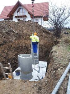 montaż szamba betonowego