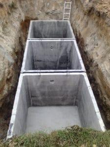 szambo betonowe trzykomorowe