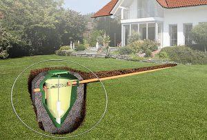 wizualizacja szamba w ziemi